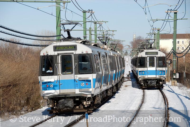 Photo 1477<br /> Massachusetts Bay Transportation Authority; Suffolk Downs, Boston, Massachusetts<br /> January 25, 2009