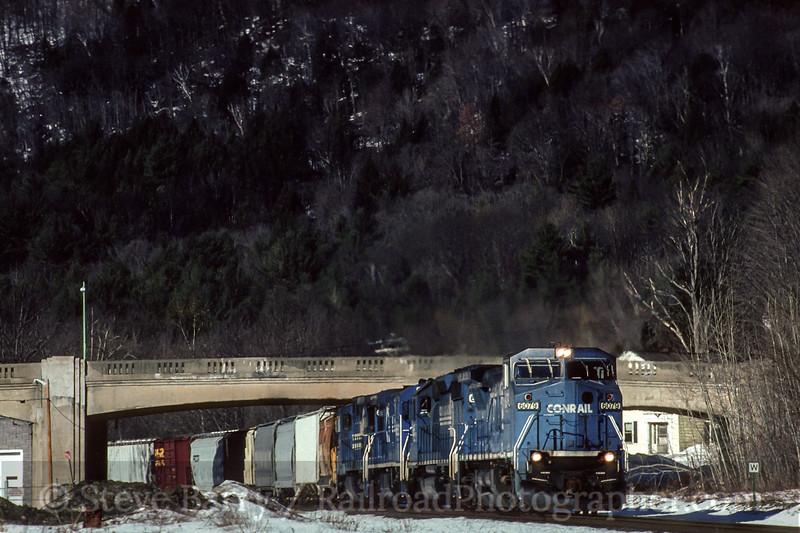 Conrail; Huntington MA; 1/1996