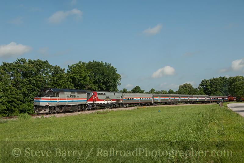 Photo 3180<br /> Amtrak; Seligman, Missouri<br /> June 16, 2014