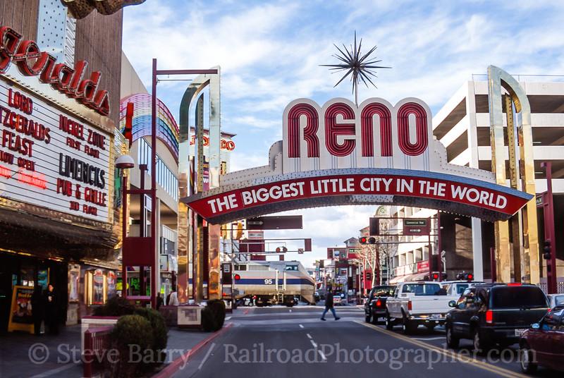 Photo 4747<br /> Amtrak<br /> Reno, Nevada<br /> March 2001