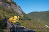 Photo 4356<br /> Conway Scenic<br /> Willey Brook Trestle, Crawford Notch, New Hampshire<br /> October 1, 2017