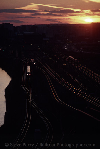 Photo 1216<br /> New Jersey Transit and PATH; Kearny Junction, Harrison, New Jersey<br /> March 16, 1997