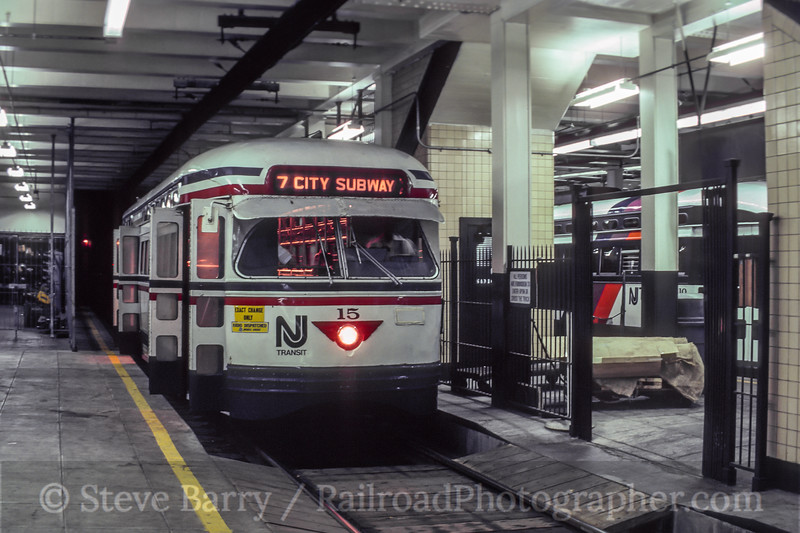 Newark City Subway (NJT); Newark NJ; 5/1987