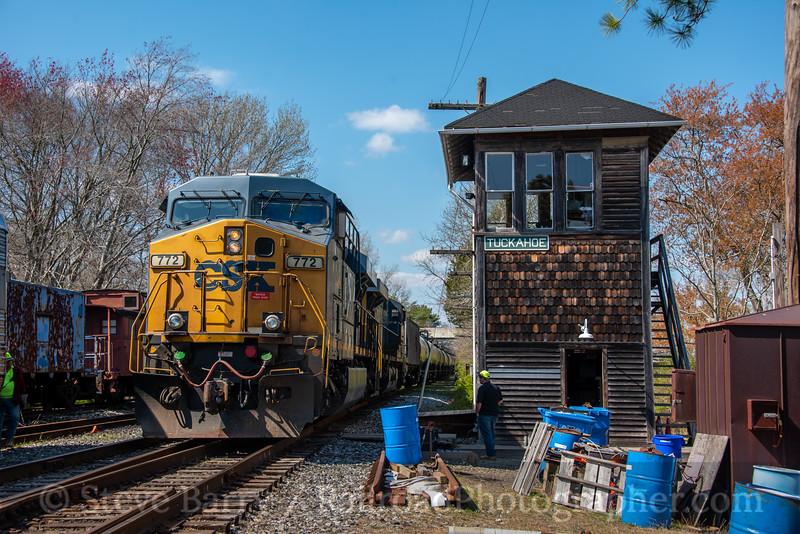 CSX (on CSAO); Tuckahoe NJ; 4/11/20