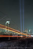 Photo 0362<br /> Tribute In Light; New Jersey Transit; Jersey City, New Jersey<br /> April 2002