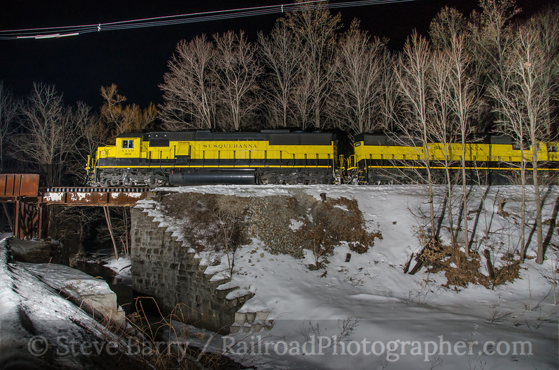 Photo 3317<br /> New York, Susquehanna & Western; Sparta Junction, New Jersey<br /> March 2, 2015