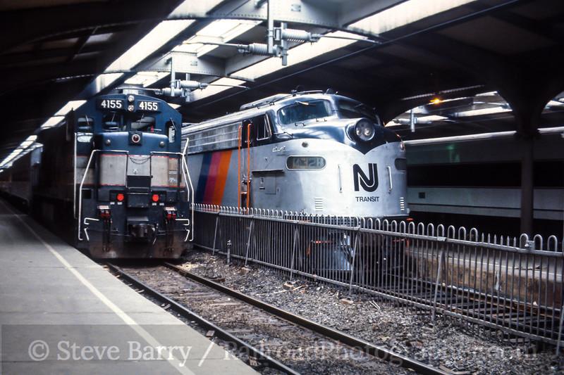 Photo 4435<br /> New Jersey Transit<br /> Hoboken Terminal, Hoboken, New Jersey<br /> October 1984