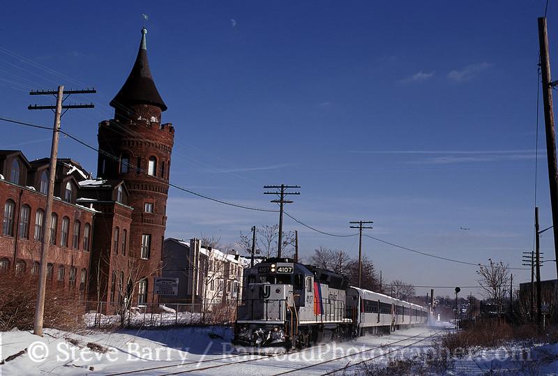 Photo 0367<br /> New Jersey Transit; North Newark, New Jersey<br /> November 2000