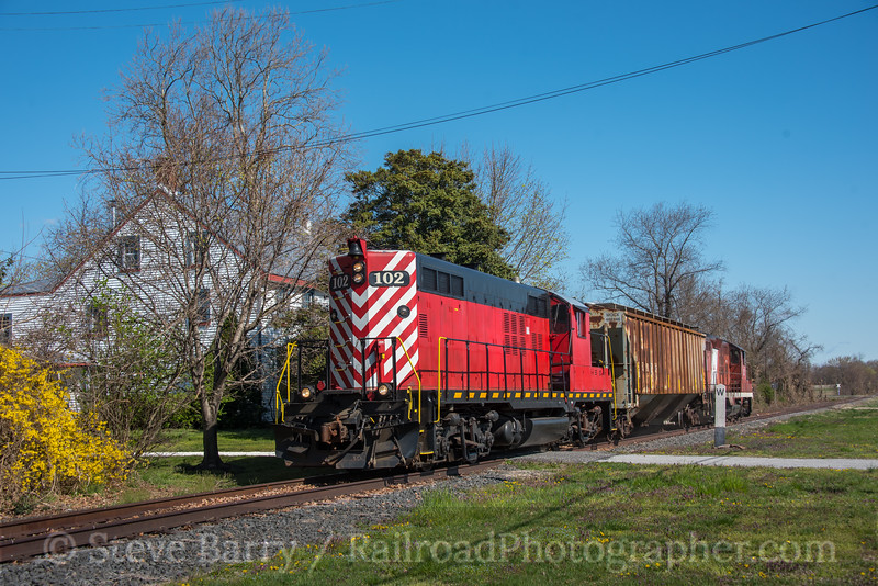 Photo 5524<br /> Southern Railroad of New Jersey<br /> Woodstown, New Jersey<br /> April 10, 2019