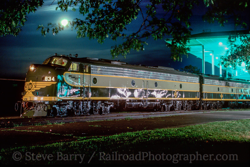 Photo 2871<br /> Erie 834; Monmouth Park, New Jersey<br /> July 1991
