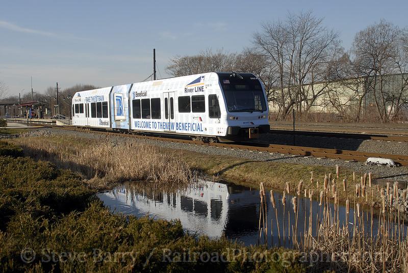 Photo 1101<br /> RiverLine (NJ Transit); 36th Street, Camden, New Jersey<br /> February 2, 2008