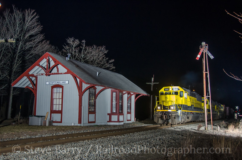 Photo 3695<br /> New York, Susquehanna & Western; Newfoundland, New Jersey<br /> March 11, 2016