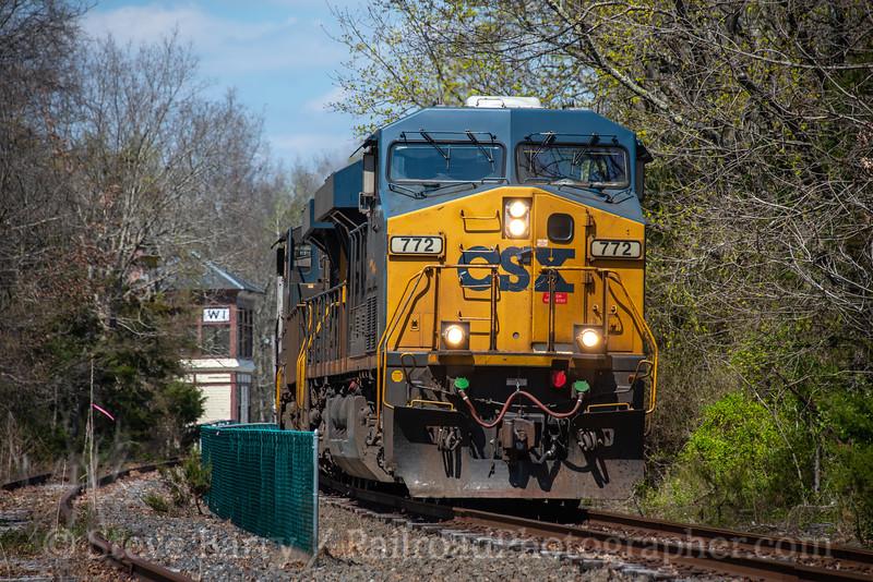 CSX (on CSAO); Richland NJ; 4/11/20