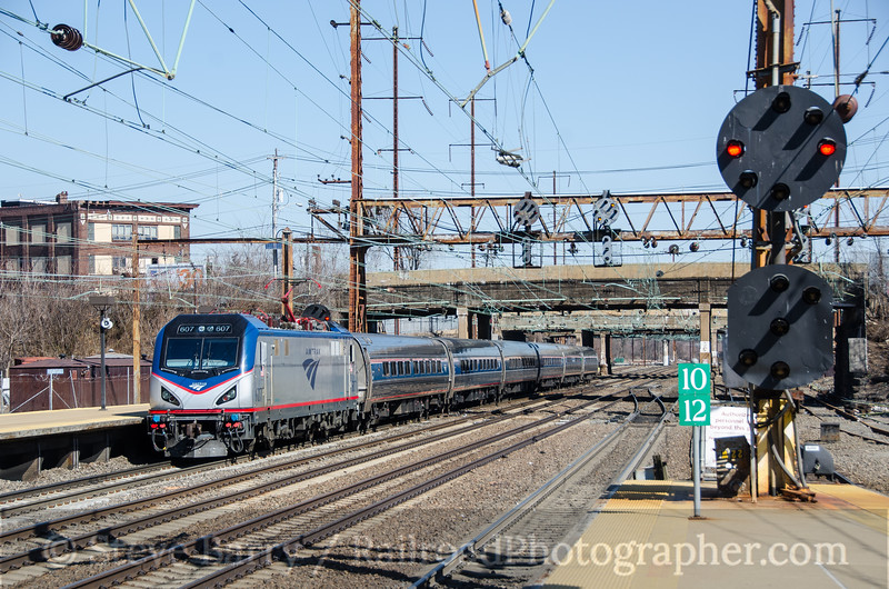 Photo 3688<br /> Amtrak; Trenton, New Jersey<br /> February 28, 2016