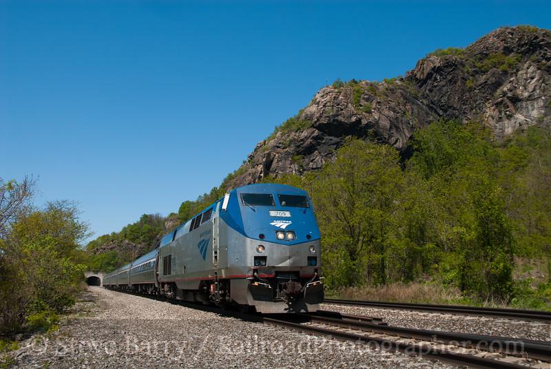 Photo 2567<br /> Amtrak; Breakneck Ridge, Cold Spring, New York<br /> April 29, 2012