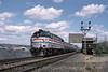 Photo 1740<br /> Amtrak; New Hamburg, New York<br /> May 6, 1995