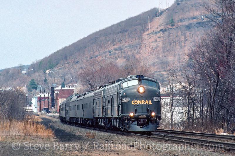 Photo 4875<br /> Conrail<br /> Port Jervis, New York<br /> April 1996