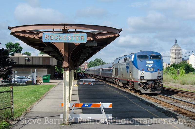 Photo 2752<br /> Amtrak; Rochester, New York<br /> July 21, 2013