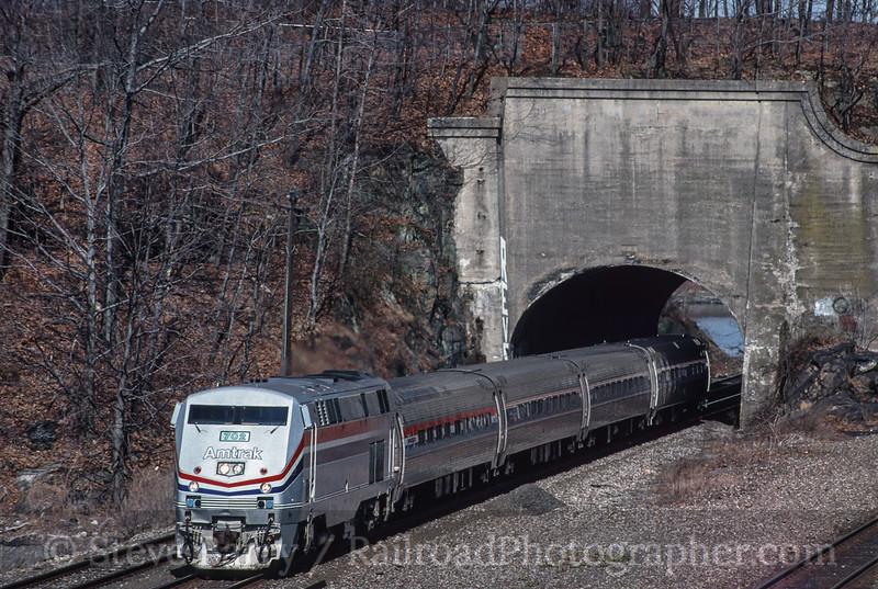 Photo 2715<br /> Amtrak; Oscawana, New York<br /> April 3, 1997
