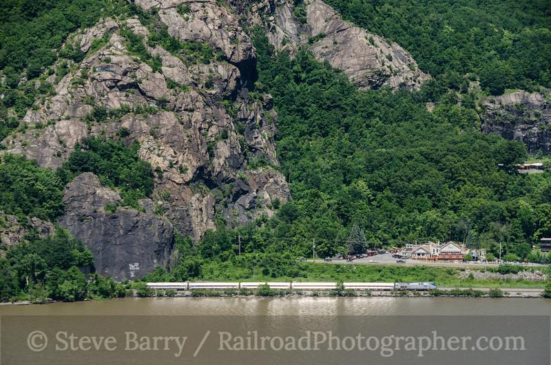 Photo 2731<br /> Amtrak; Breakneck Ridge, Cold Spring, New York<br /> June 23, 2013