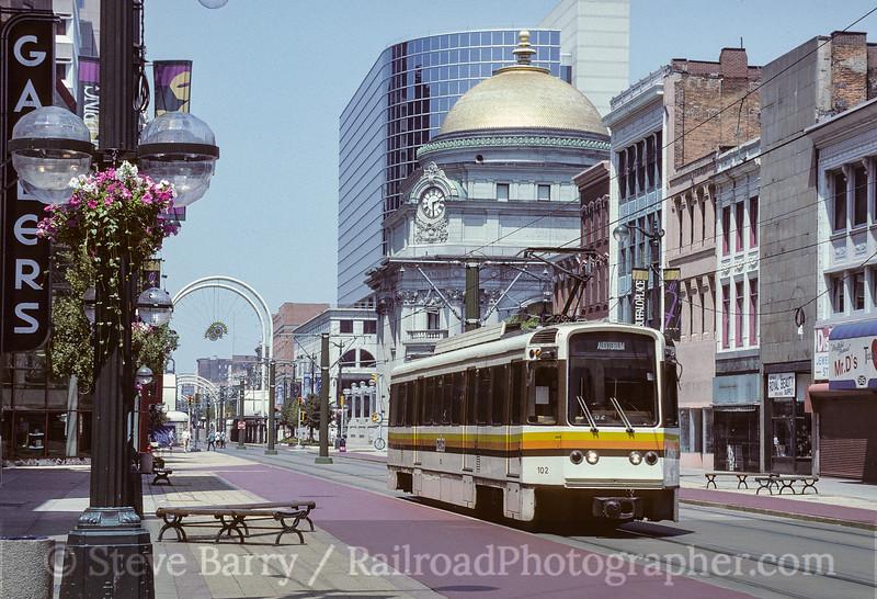 Photo 3592<br /> Niagara Frontier Transportation Authority; Main & Huron, Buffalo, New York<br /> July 1993
