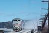 Photo 4878<br /> Amtrak<br /> Hudson, New York<br /> January 2000