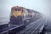Photo 5445<br /> New York, Susquehanna & Western (on Conrail)<br /> Binghamton, New York<br /> March 1990