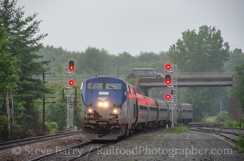 Photo 3427<br /> Amtrak; Saratoga Springs, New York<br /> June 15, 2015
