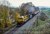 Photo 5076<br /> New York, Susquehanna & Western<br /> Bainbridge, New York<br /> October 1988