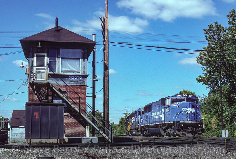 Photo 3787<br /> Norfolk Southern; Scioto Tower, Columbus, Ohio<br /> August 1999