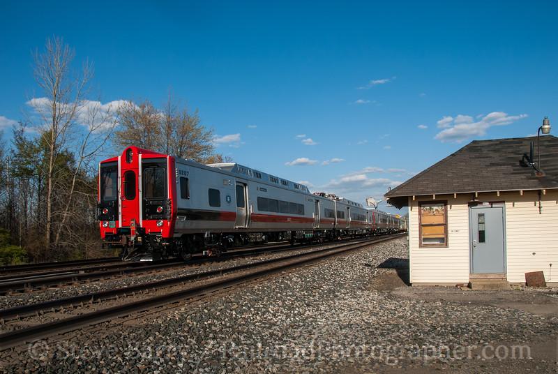 Photo 2876<br /> Metro North (on CSX); Greenwich, Ohio<br /> April 12, 2012