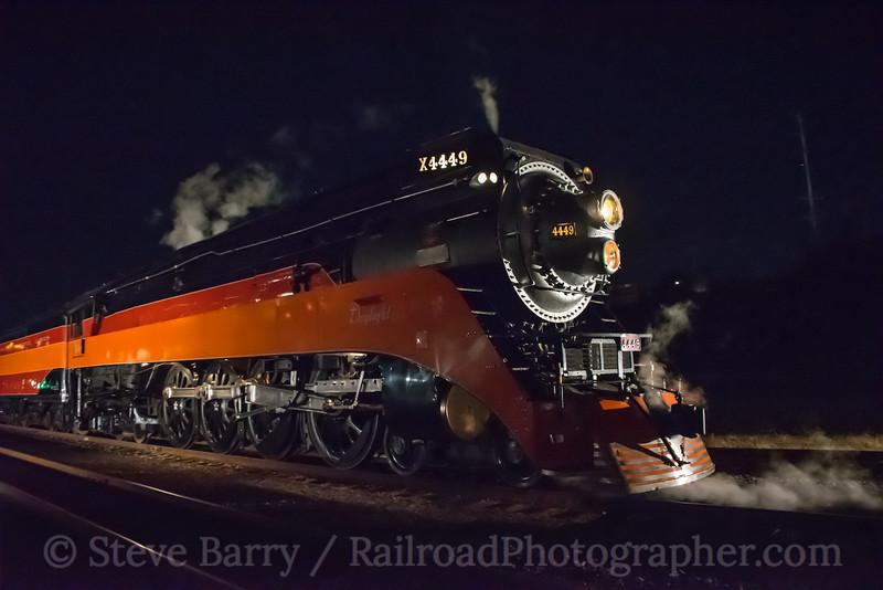 Photo 5315<br /> Southern Pacific 4449<br /> Oregon Rail Heritage Center, Portland, Oregon<br /> October 15, 2018