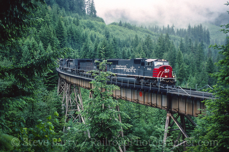 Photo 4854<br /> Sourthern Pacific<br /> Salt Creek Trestle, McCredie Springs, Oregon<br /> June 12, 1997