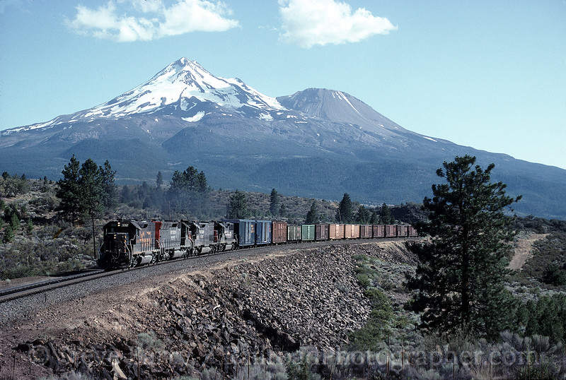 Photo 1151<br /> Union Pacific (Southern Pacific); Andesite, California<br /> July 19, 1992