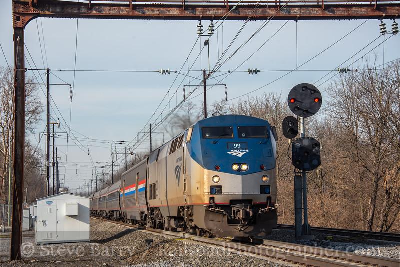 Amtrak; Leaman Place Junction PA; 12/11/20