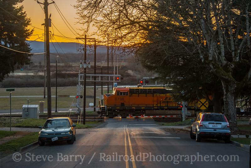 Photo 5501<br /> BNSF Railway<br /> Ridgefield, Washington<br /> March 17, 2019
