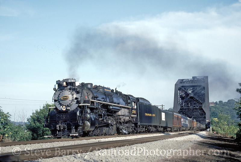 Photo 0138<br /> Chesapeake & Ohio 2765 (Nickel Plate 765); Beaver, Pennsylvania