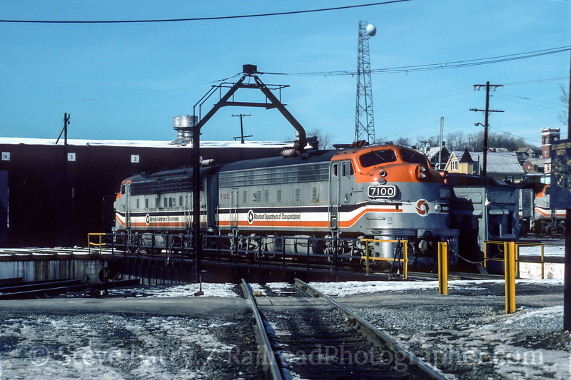 Photo 4495<br /> Maryland Area Rail Commuter<br /> Brunswick, Maryland<br /> February 1985
