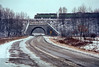 Photo 4476<br /> New York, Susquehanna & Western (D&H)<br /> Sanitaria Springs, New York<br /> February 1989