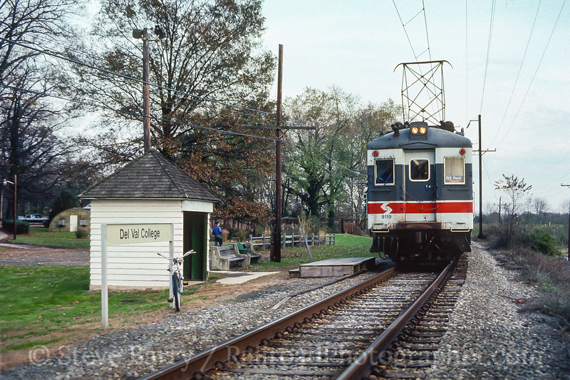Photo 3942<br /> Southeastern Pennsylvania Transportation Authority; Delaware Valley College, Doylestown, Pennsylvania<br /> December 1989