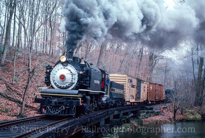 Photo 2922 Wilmington & Western; Wooddale, Delaware November 17, 1990