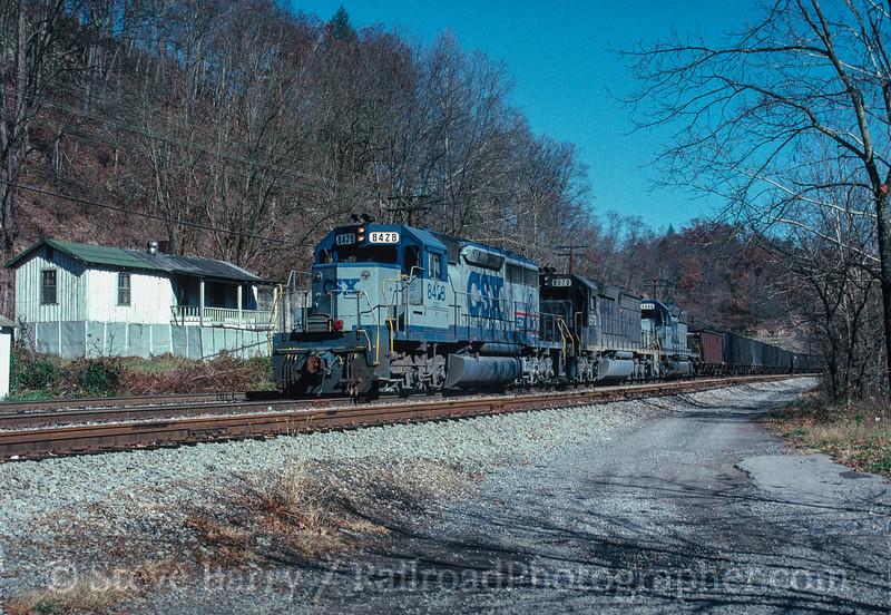 Photo 3025<br /> CSX Transportation; Morefield Flats (St. Paul), Virginia<br /> November 1990
