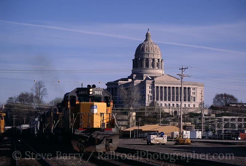 Photo 0540<br /> Union Pacific; Jefferson City, Missouri<br /> April 10, 1993