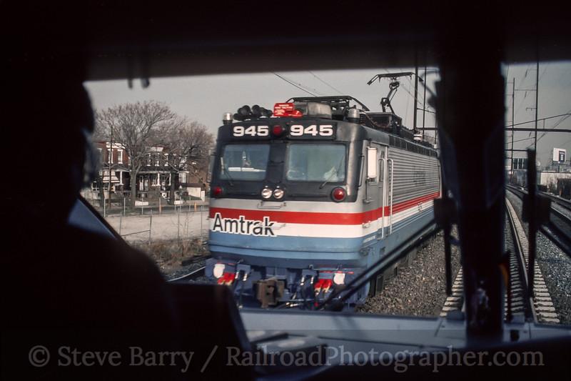 Photo 5176<br /> Amtrak<br /> Bridesburg, Philadelphia, Pennsylvania<br /> December 1993