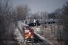 Photo 0043<br /> Atchison, Topeka & Santa Fe; Edelstein, Illinois<br /> April 4, 1993