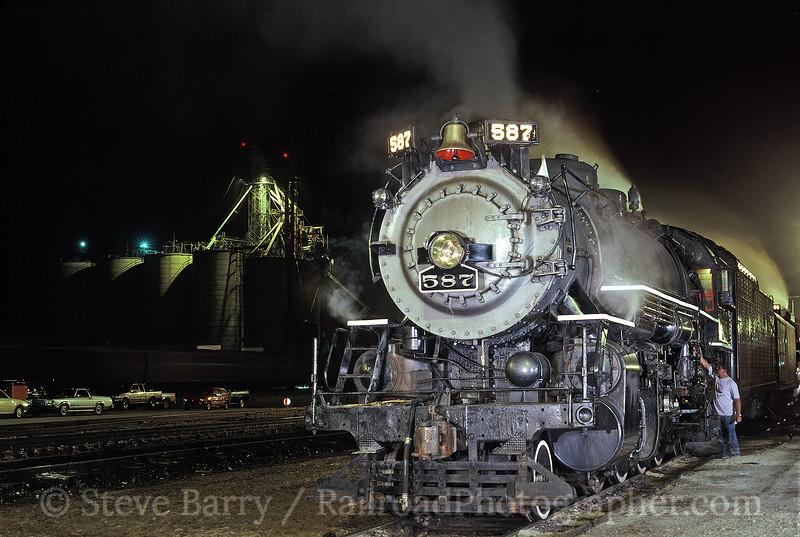 Photo 0379<br /> Nickel Plate Road 587; Fort Wayne, Indiana<br /> July 19, 1993