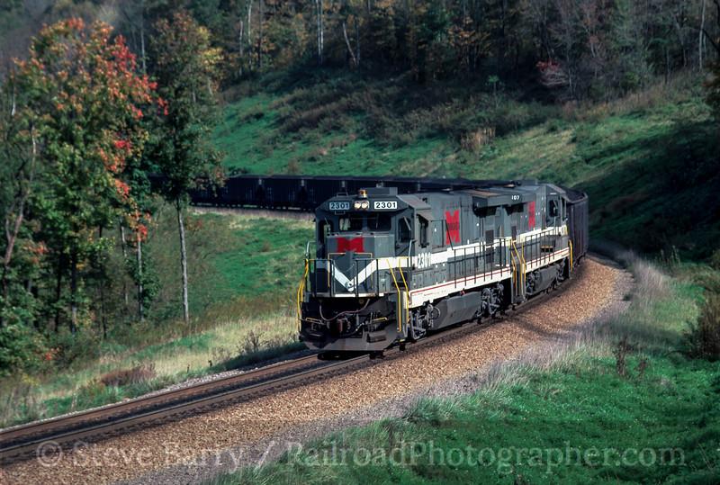 Photo 2514<br /> Monongahela Railway; Time, Pennsylvania<br /> October 1993