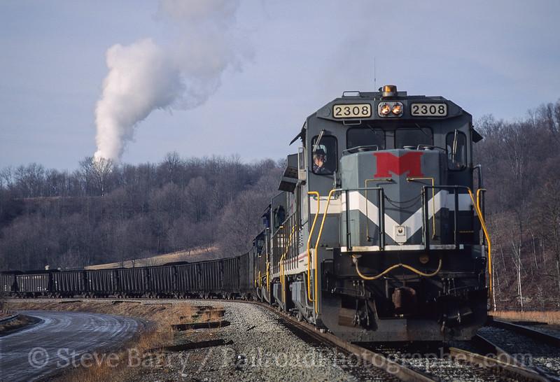 Photo 4124<br /> Monongahela; Blacksville No. 2 Mine, Wana, West Virginia<br /> January 1993