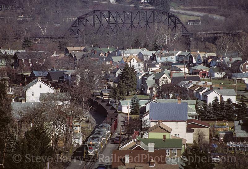 Photo 3536<br /> Monongahela; West Brownsville, Pennsylvania<br /> January 1993