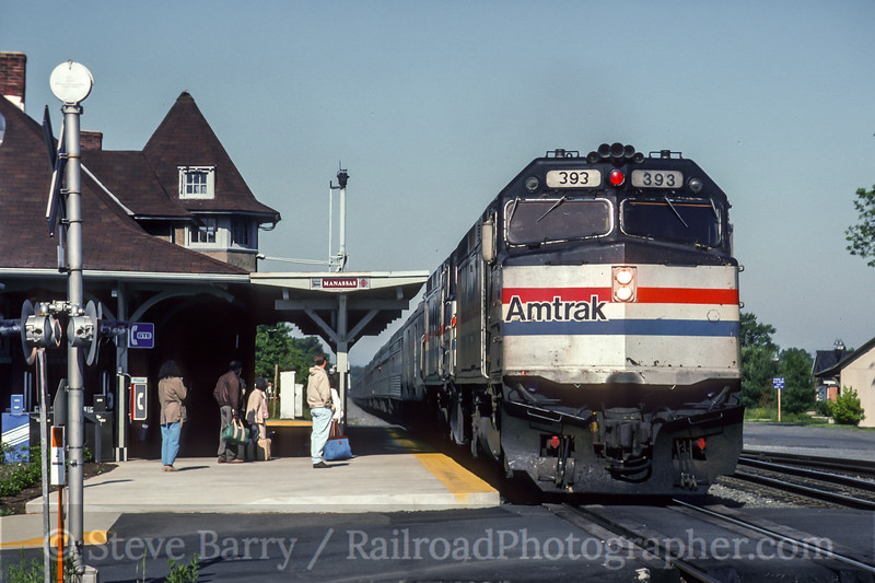 Photo 5453<br /> Amtrak<br /> Manassas, Virginia<br /> May 1993